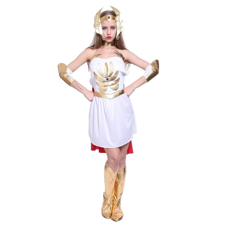 She-Ra 80s Superhero Ladies Fancy Dress He-Man Film u0026 TV Cartoon Womens Shera Costume S M L UK 8-18 (Medium) Amazon.co.uk Toys u0026 Games  sc 1 st  Amazon UK & She-Ra 80s Superhero Ladies Fancy Dress He-Man Film u0026 TV Cartoon ...