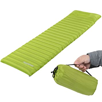 ACRATO Sleeping Pad TPU Thick Ultralight Lightweight Air Inflating C&ing Mattress C& Pad attached Pillow For  sc 1 st  Amazon.com & Amazon.com : ACRATO Sleeping Pad TPU Thick Ultralight Lightweight ...