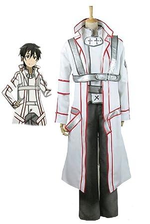 Sword Art Online Knights Of The Blood Kirito White Uniform Cosplay