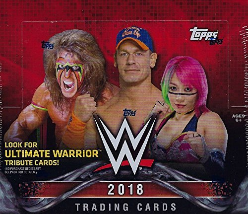 2018 Topps WWE Wrestling Series HUGE Unopened Retail Box of 24 Packs with 168 cards total including Ultimate Warrior Tribute (Retail Trading Card Box)