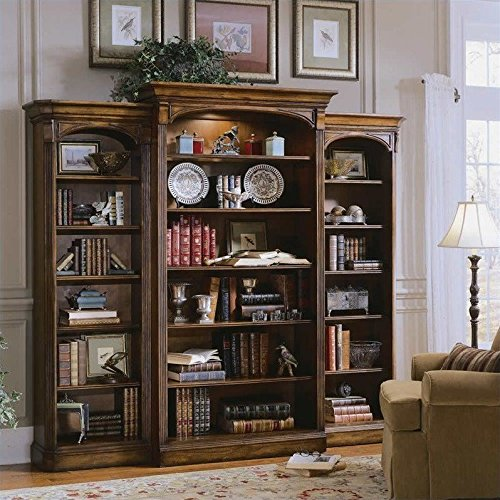 Hooker Furniture Brookhaven Wall Bookcase in Clear Cherry