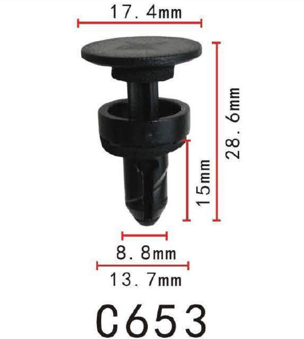 Kfz-Kennzeichen Halter Clip, modell PF-C457 (20er Pack): Amazon.de: Auto