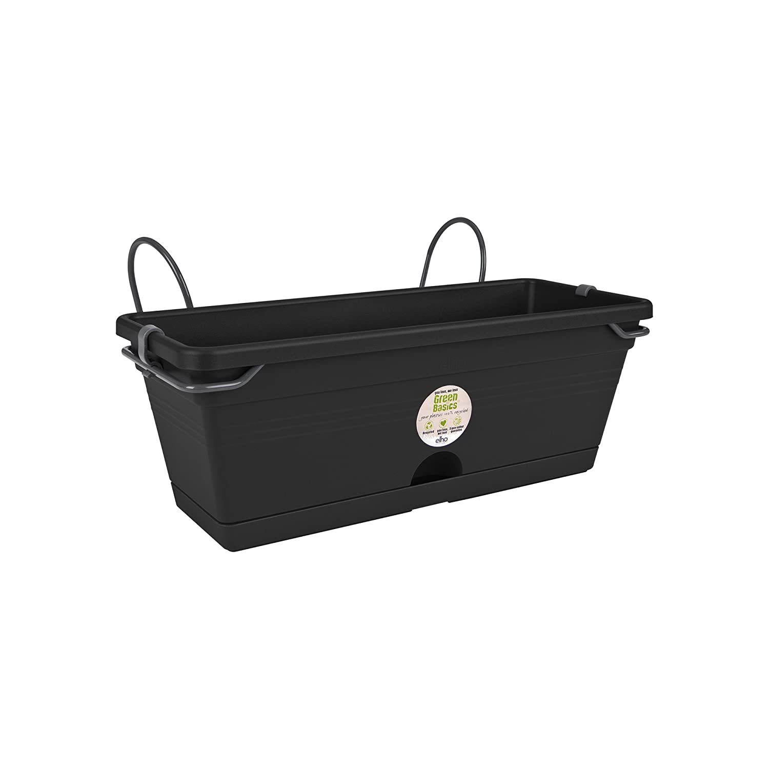 Elho green basics trough mini allin1 30cm planter - living black 6951603043300