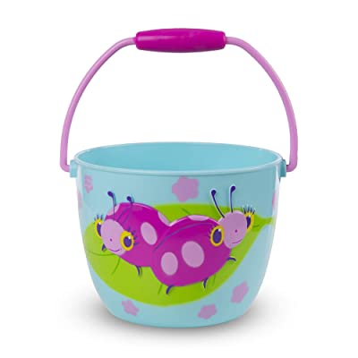 Melissa & Doug Sunny Patch Dixie and Trixie Ladybug Pail - Outdoor Toy for Kids: Toys & Games