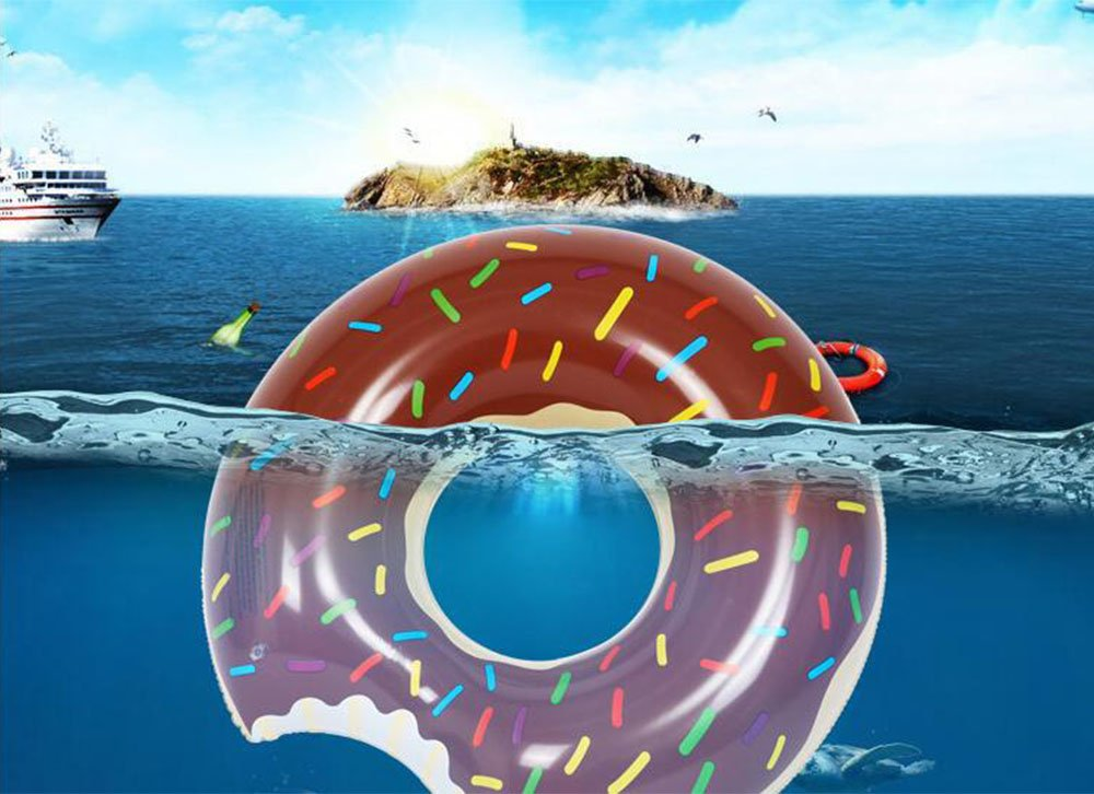 Amazon.com: TOPIND Inflatable Donut Swim Ring Giant Inlatable Floating Children Summer Swimming Pool Kids Seat Boat Inflatable Water Raft Pool Float PVC ...