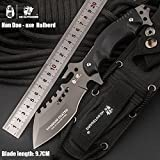 HX outdoors Army Survival Knife Outdoor Tool High Hardness Small Straight Knives Essential for Camping Hiking Tools The Axe