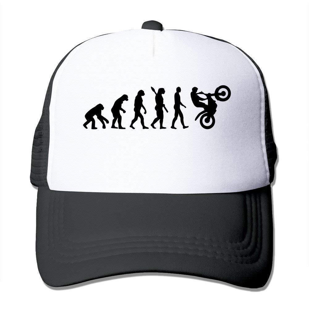KAKICSA Funny Hat Cap Custom Adult Unisex Evolution Motocross 100% Nylon Mesh Caps One Size Fits Most Adjustable Hats