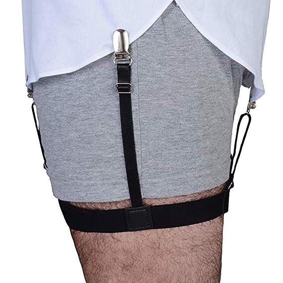 Sujetadores de camisa para hombre, correas antideslizantes con ...