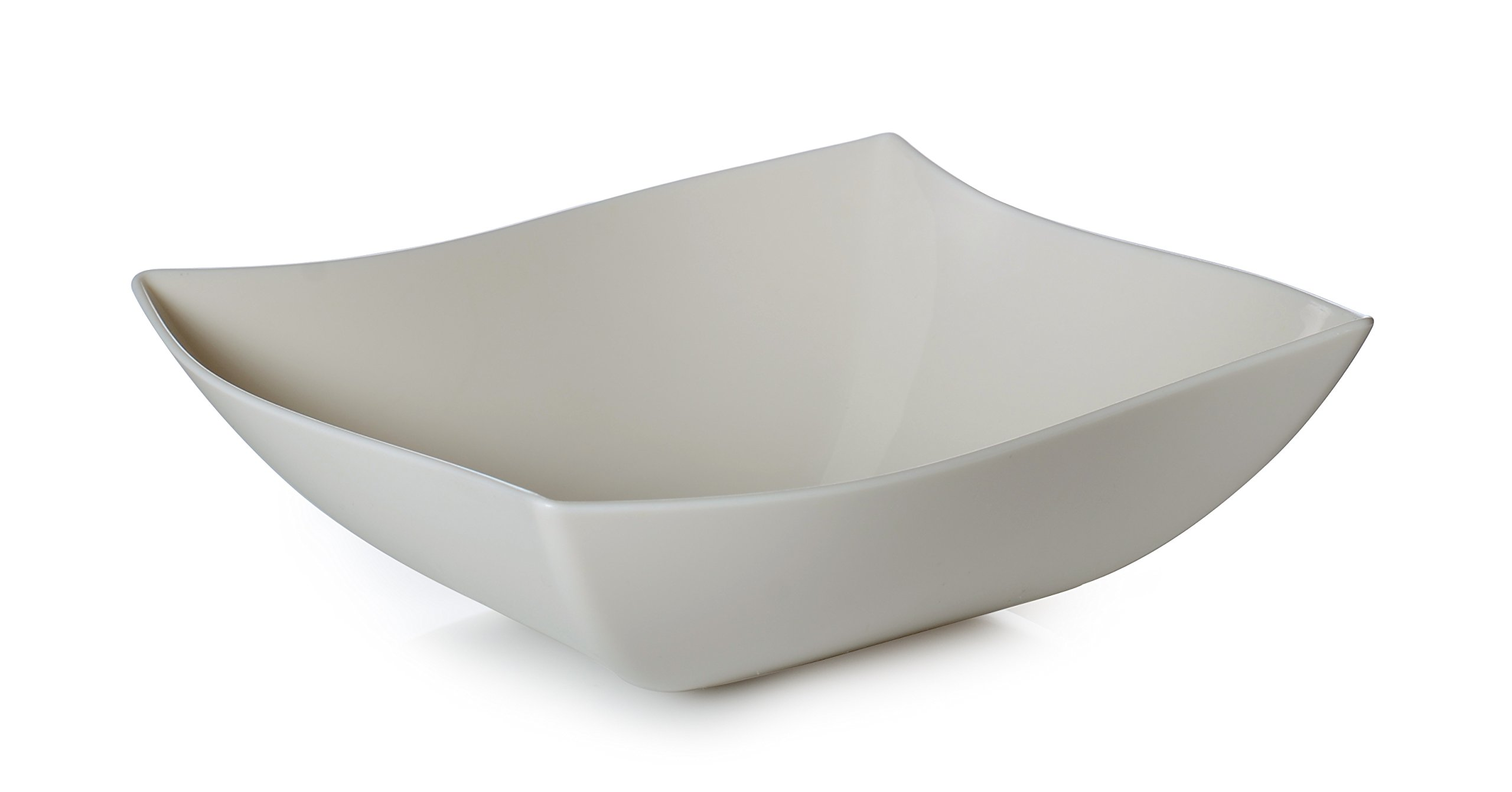 Fineline 128 oz Serving Bowl (Case of 25), Bone