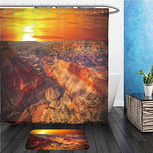 Beshowereb Bath Suit: ShowerCurtian & Doormat famous view of grand canyon arizona usa - Arizona Macy's