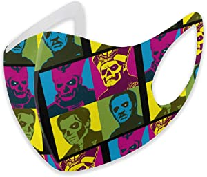 Triciaedcf Adults Reusable Adjustable Anti Dust Papa Music Cartoon Mouth Face Scarf, Face Mouth Mask, School Balaclava Breathable for Cycling Camping Travel for Women