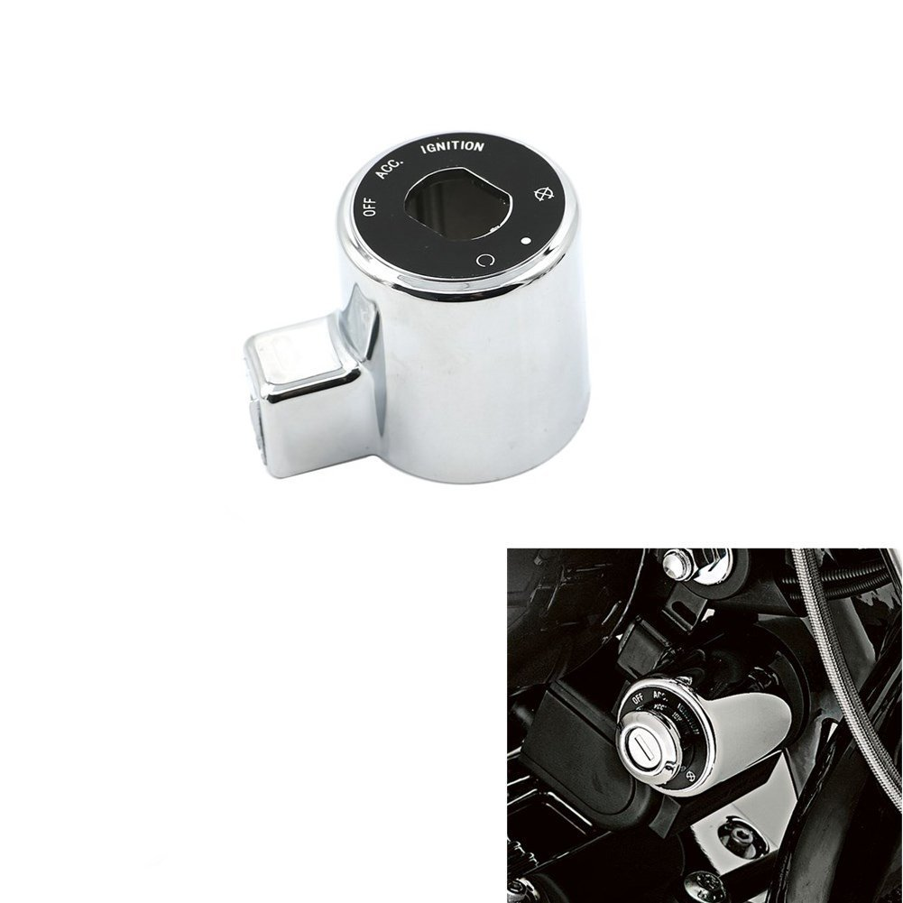 Alpha Rider Ignition Switch Chrome Cover For Harley Sportster 883 XL883 2004-2008 | Sportster 883 Low XL883L 2005 2010 | Sportster 883 Custom XL883C 2004-2009