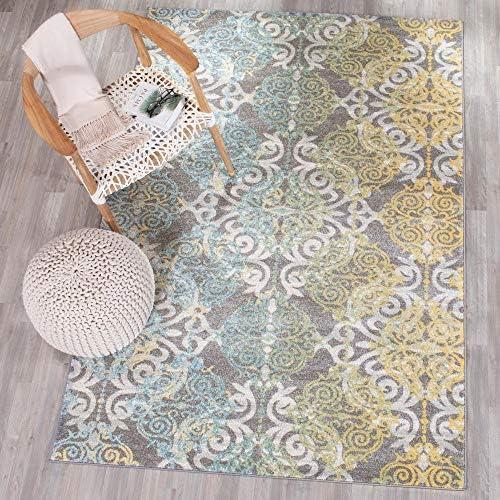 Safavieh Evoke Collection EVK230D Medallion Damask Non-Shedding Stain Resistant Living Room Bedroom Area Rug