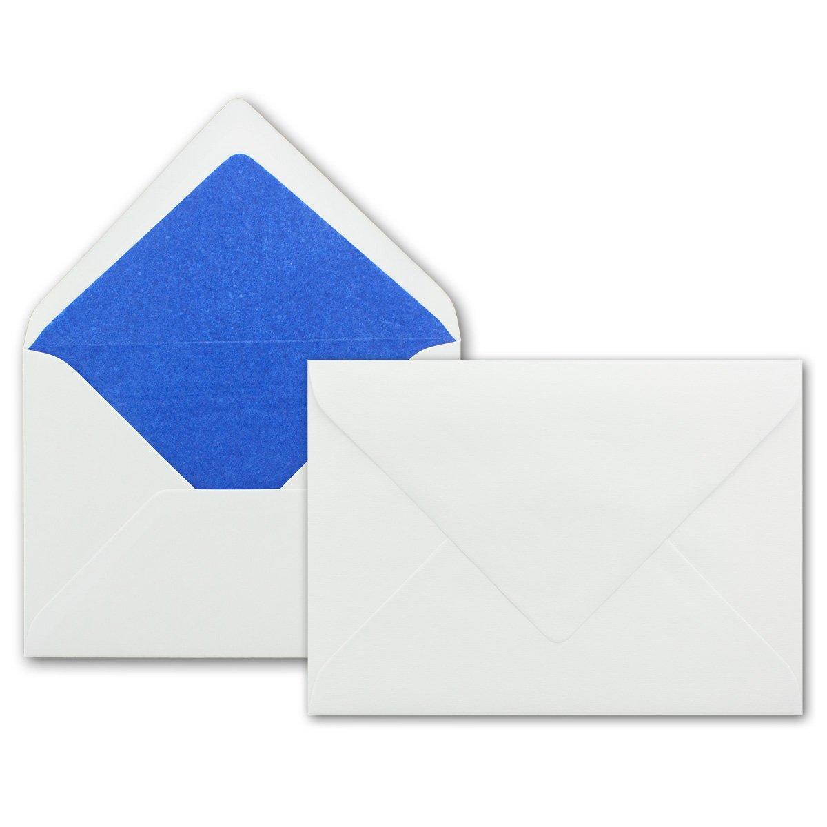 Nassklebung ohne Fenster 100 Weisse Briefumschl/äge mit rosa Seidenfutter Ideal f/ür Hochzeits-Einladungen Gru/ßkarten Weihnachtskarten DIN B6 12,5 x 17,6 cm