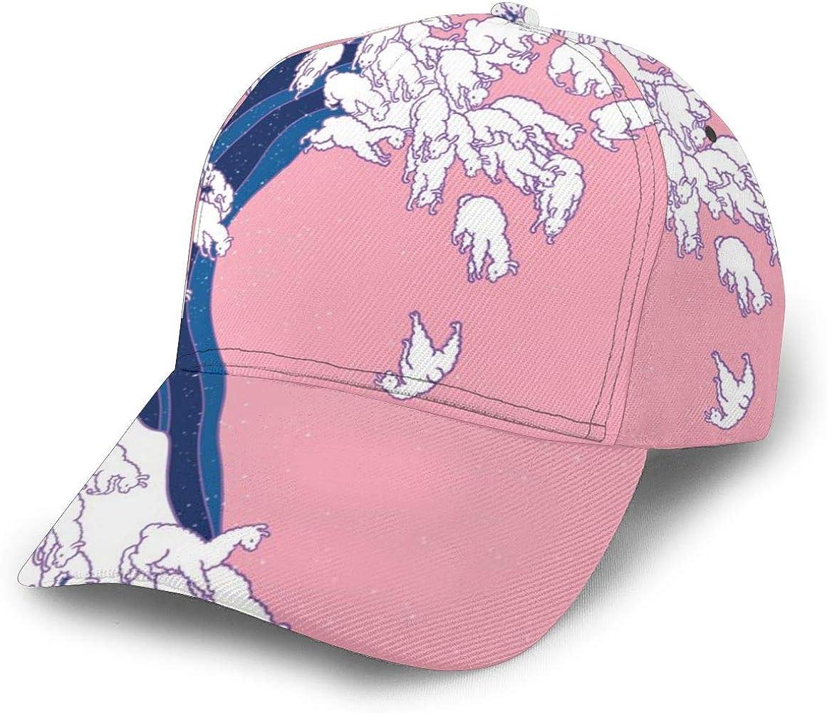 Llama Waves in Pink Gorra de béisbol Ajustable Mujer Hombre Gorra ...