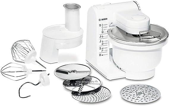 Bosch MUM4426 robot de cocina, 500 W, 3.8 litros, De plástico, 4 Velocidades, Tapa azul: Amazon.es: Hogar