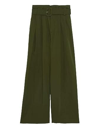 superior quality affordable price meet Zara Femme Pantalon Large avec Ceinture 1478/045: Amazon.fr ...