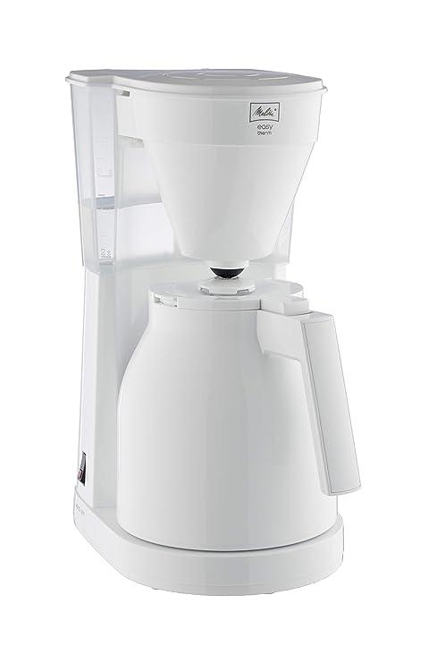 Melitta Cafetera de Goteo Therm II con Jarra Isotérmica, Función Easy Click, 1L de Capacidad, Blanca, 1023-05, 1050 W, 1 Liter, Plástico