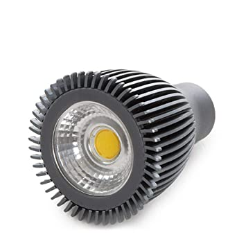 Greenice | Bombilla LED GU10 7W 800Lm 50.000H Antracita | Blanco Frío