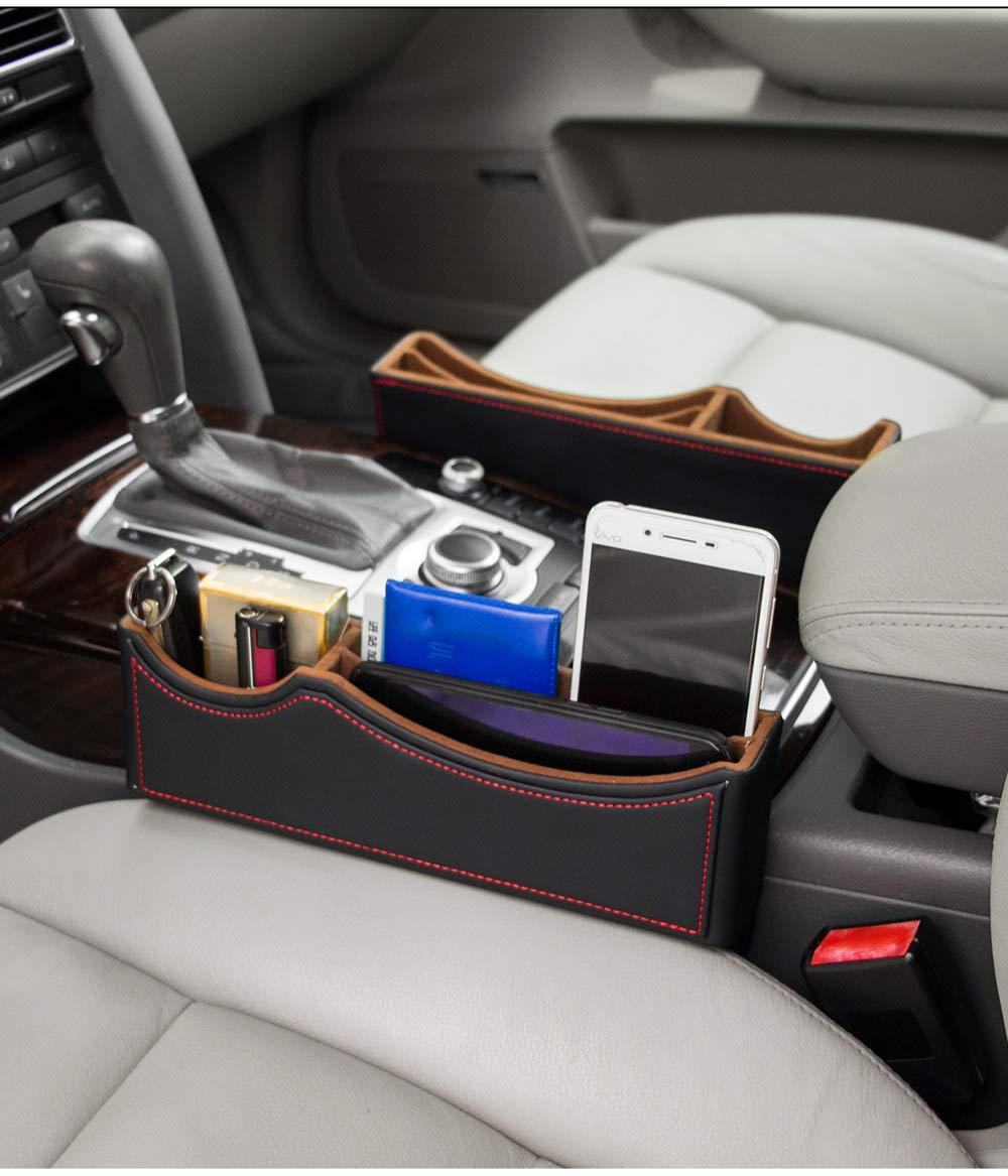 High Class PU Leather Car Seat Gap FillerCar Catcher Organizer 2