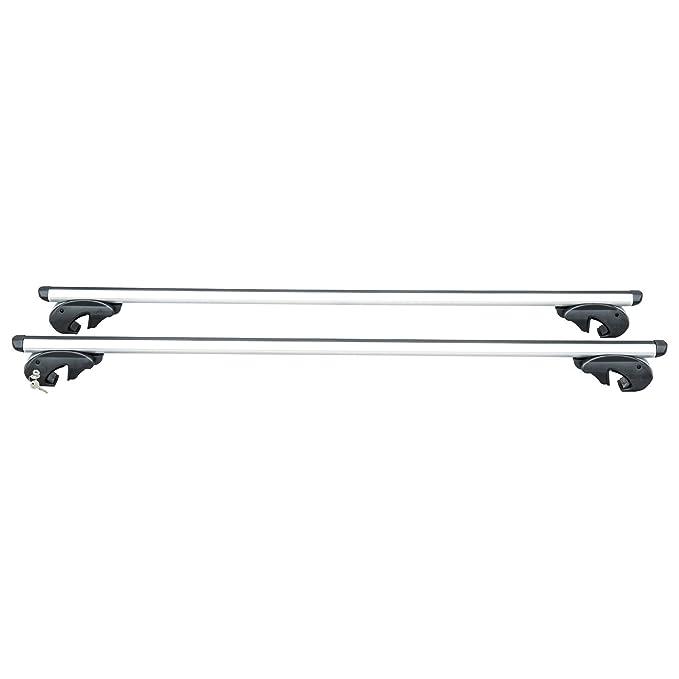 Homcom Baca Barras de Techo Aluminio Portaequipajes Adaptable hasta 120cm Coche Bici ski Equipaje: Amazon.es: Hogar