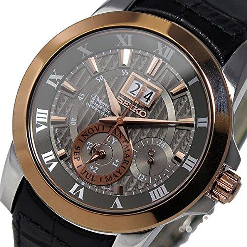 セイコー プルミエ パーペチュアル クオーツ メンズ 腕時計 SNP114P2 グレー[並行輸入品] B01LG8A3MO