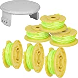 """Generep Trimmer Spool AC80RL3 Replacement for Ryobi One Plus + 18V 24V 40V, 11ft/0.080"""" Cordless Twist Single Line and Cap Co"""