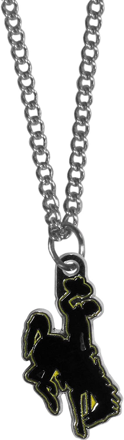 NCAA Siskiyou Sports Fan Shop Wyoming Cowboys Chain Necklace with Small Charm 22 inch Team Color