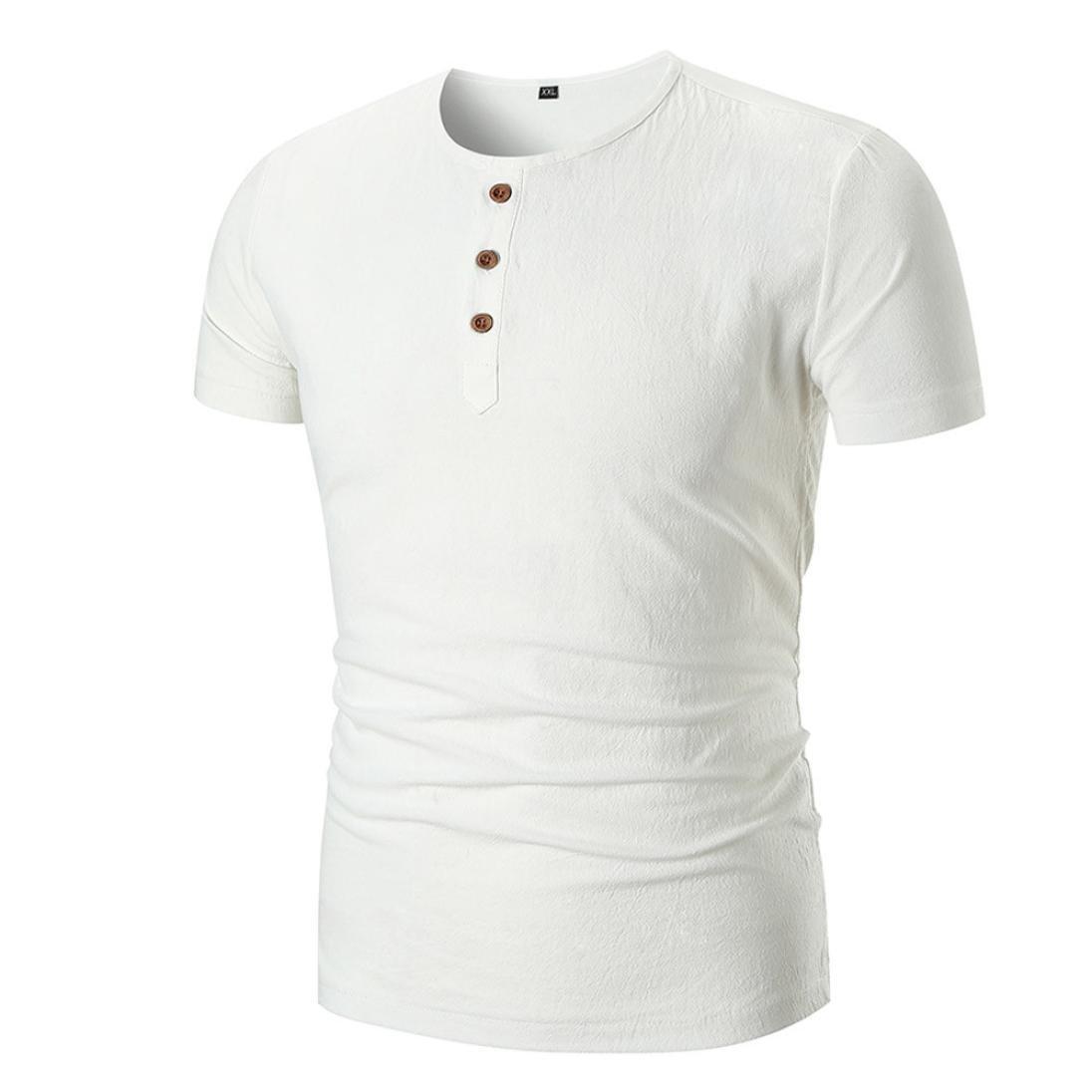 Camiseta para Hombre, Hombres Verano Casual Sólido O Cuello Pullover Manga Corta Camiseta Top Blusa,Personalidad Casual Remera Slim Camisas: Amazon.es: Ropa ...