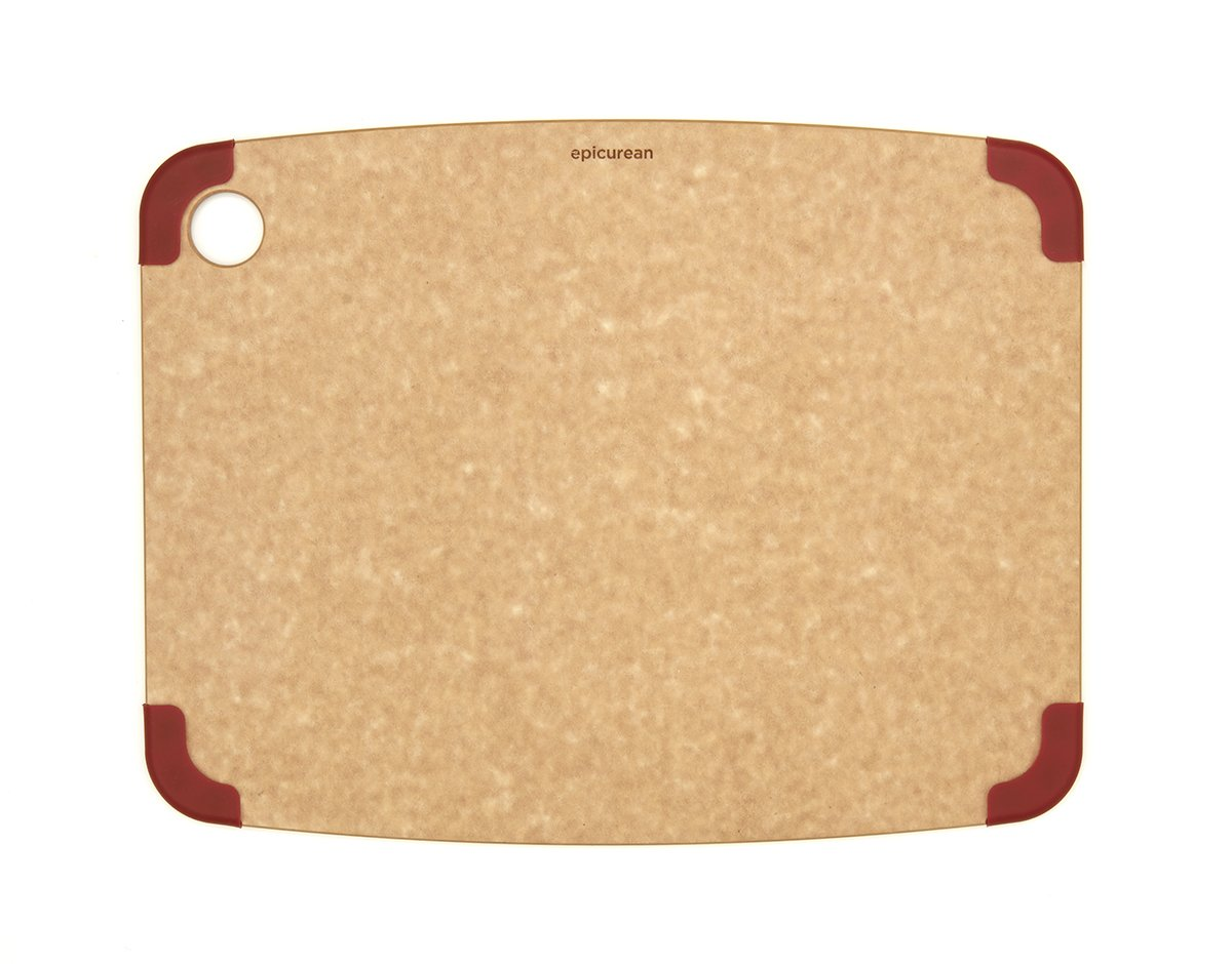 Epicurean Non-Slip Series Cutting Board, 11.5-Inch by 9-Inch, Natural/Brown 202-12090102