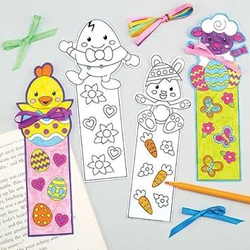 Baker Ross Marcapáginas de Pascua para Colorear Que los Niños Pueden ...