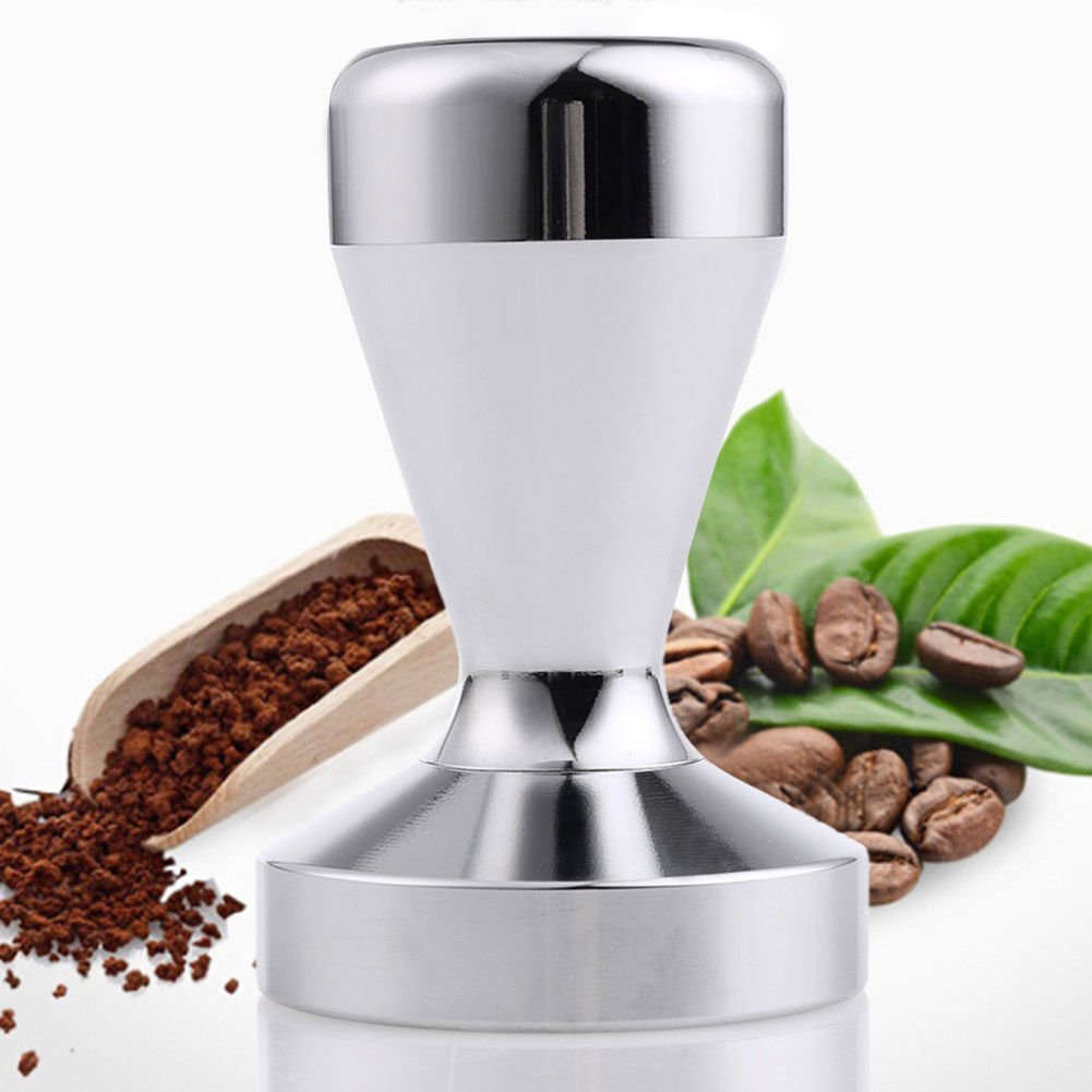 Ambox Espresso Coffee Tamper, Premium Stainless Steel Coffee Tamper, Solid Heavy Duty, Barista Style, 51mm American Convex Base Coffee Bean Press