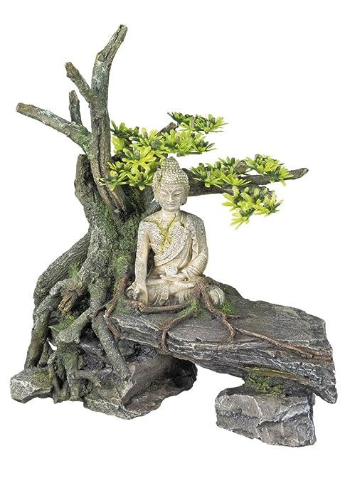 Nobby 28560 Aqua Ornaments Buda con árbol