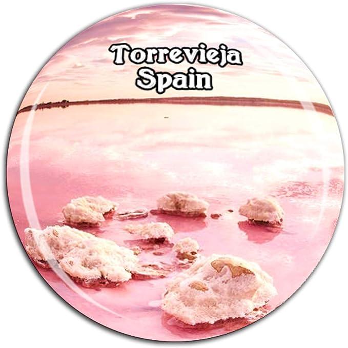 Weekino Salt Lake Torrevieja España Imán de Nevera Cristal 3D ...