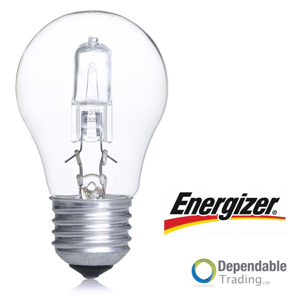 20 x ENERGIZER 42w = 60w ES (E27) Clear HALOGEN Energy saving GLS Bulb (S4864)