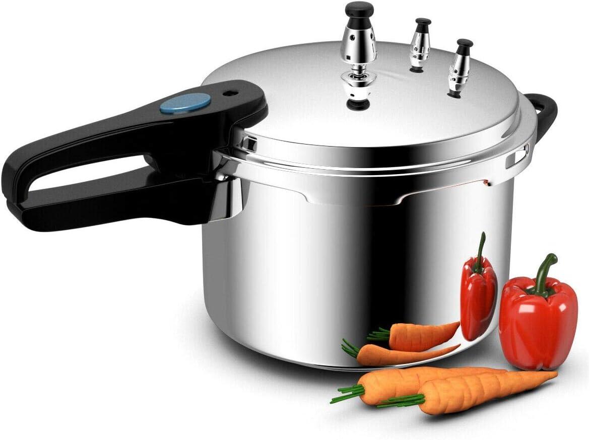 New Aluminum Pressure Cooker Fast Cooker Cookware Kitchen 6-Quart #TEE1