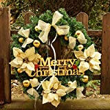 Christmas Garland for Stairs fireplaces Christmas Garland Decoration Xmas Festive Wreath Garland with Christmas tree Wreath Festival Christmas tree,60cm