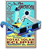 Eclipse Glasses for the 2017 Sea to Shining Sea Eclipse (5 Pack) - CE & ISO Certified - Includes Commemorative Poster - Made in USA