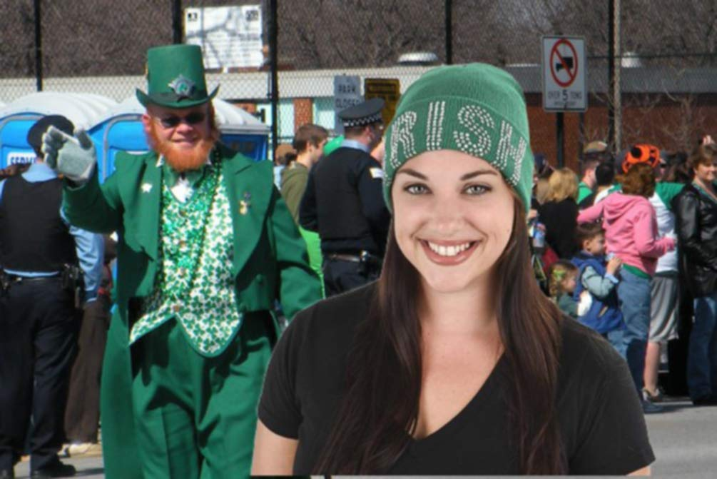 2109e3fafac RINCO St. Patrick s Day Irish Kelly Neon Crazy Green Shamrock Fedora ...