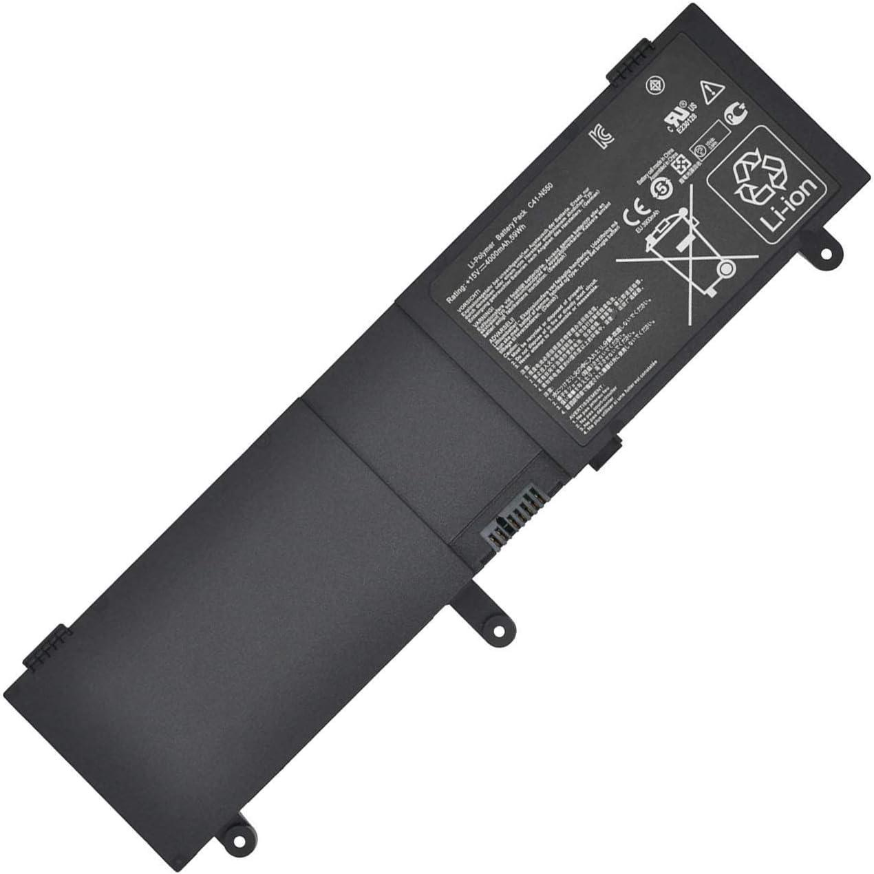 C41-N550 Laptop Battery for Asus N550 N550JA N550JV N550X47JV N550X47JV-SL N550JK Q550L Q550LF etc. Series Laptop Notebook(15V 59Wh)