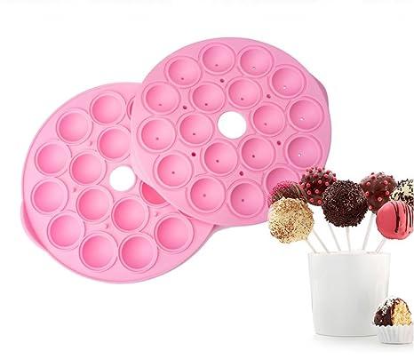 Molde de silicona para 18 pasteles redondos en forma de chupetes Fabriquer y démouler fácilmente de