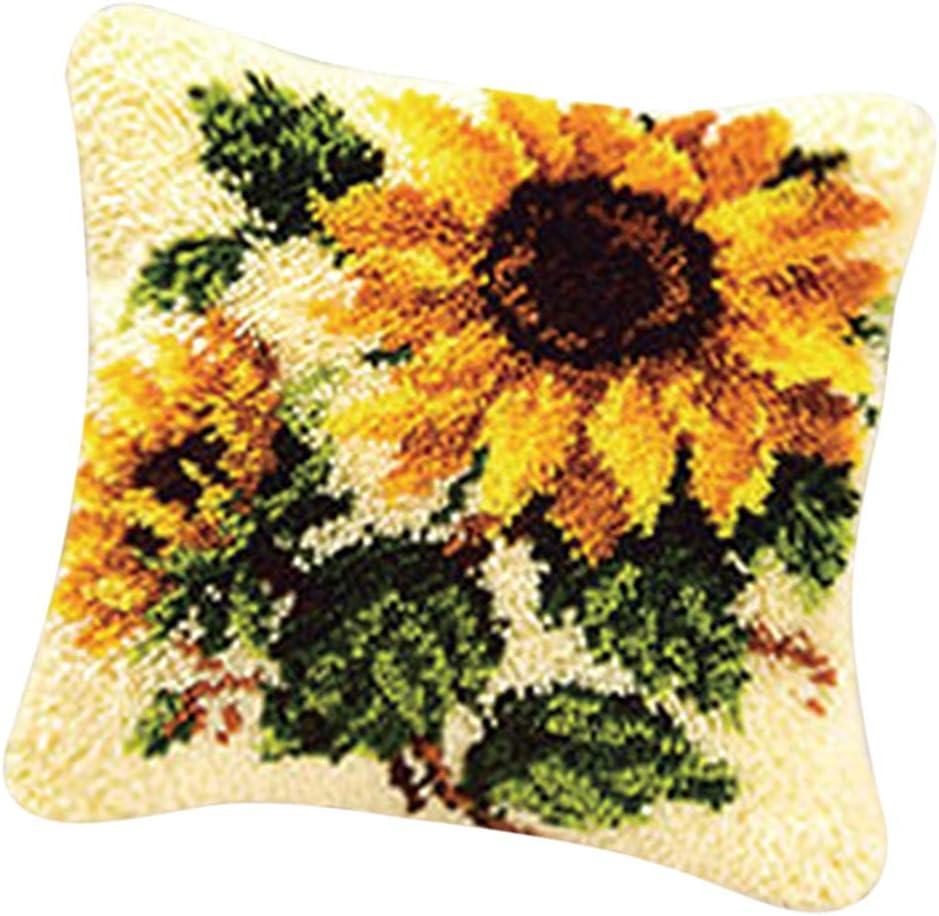 20x20inch Handmade Latch Hook Kit DIY Rug Animal Cat /& Dog 50x50cm Bonarty 2-Packs Carpet Embroidery