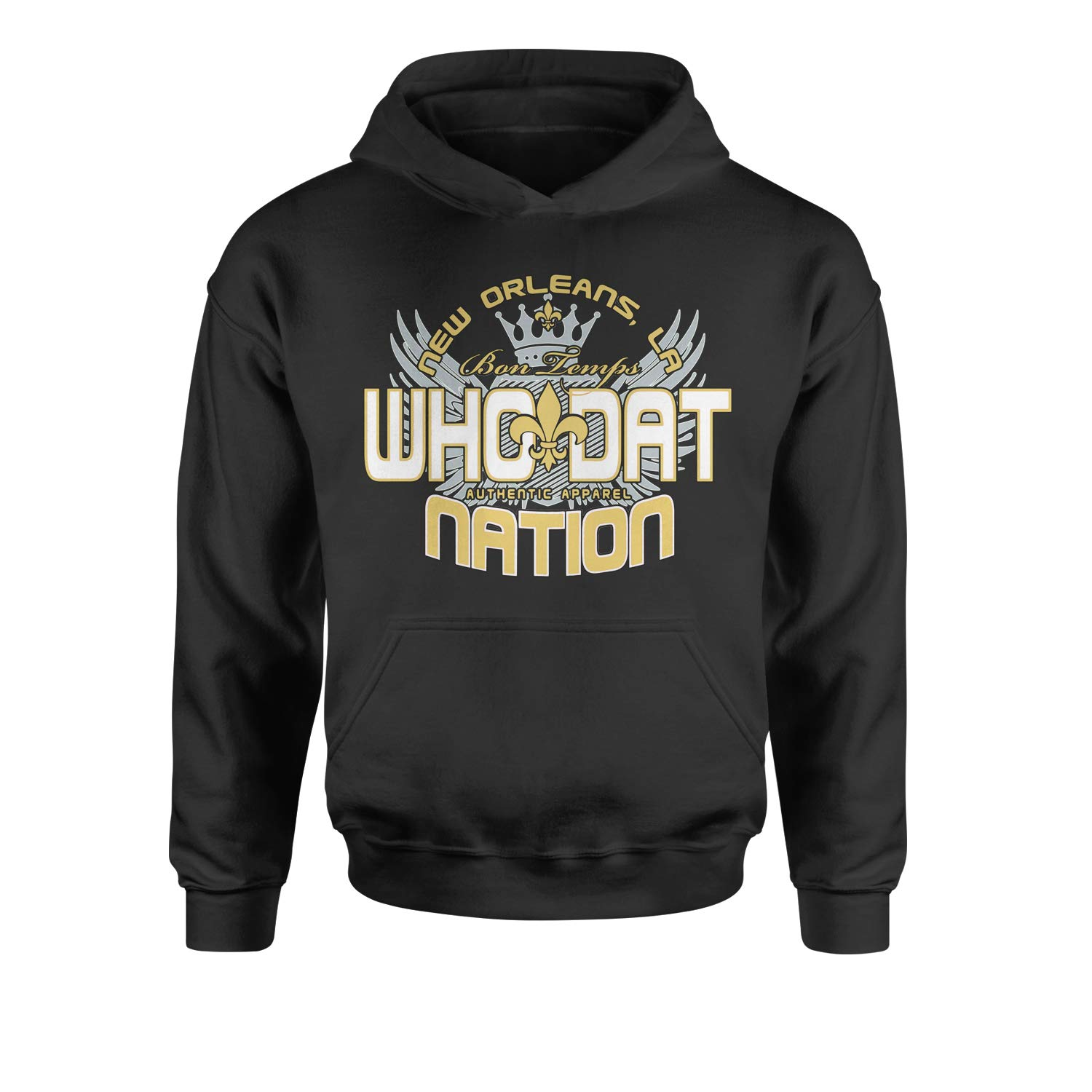 Expression Tees Who Dat Nation New Orleans Youth-Sized Hoodie Color
