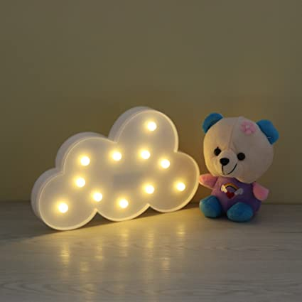 Lighted cloud sign led marquee cloud baby light nursery lamp home decor accents