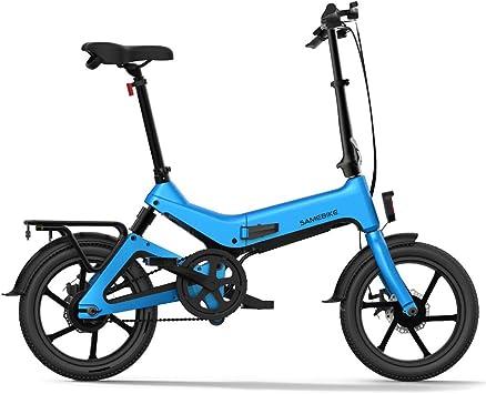 Lixada Bicicleta Eléctrica Plegable de 16 Pulgadas con Asistencia ...