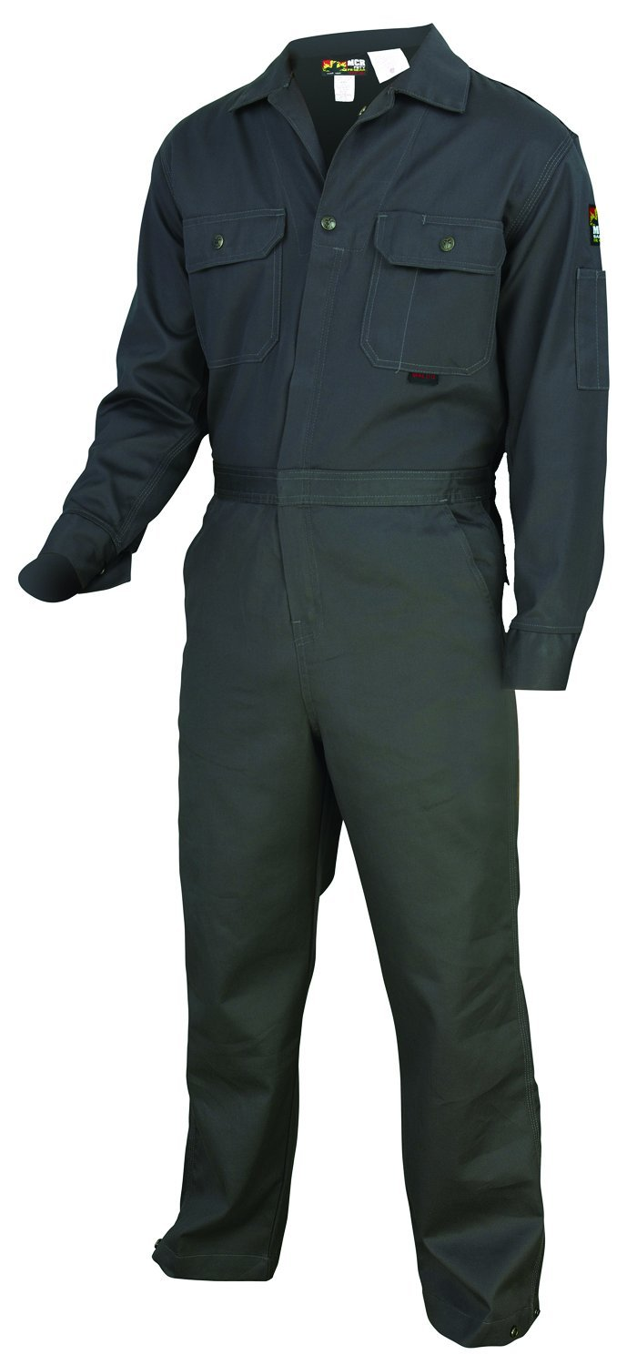 MCR Safety CC1G66T Contractor Flame Resistant Coveralls, Size 66 Tall, Chest 66-Inch, Waist 66-Inch, Inseam 32-Inch, Gray