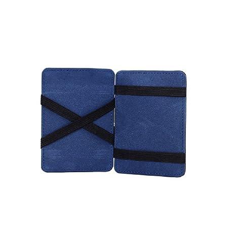 Portafoglio Magico in simili cuoio - magic wallet Credit Card Holder - porta  moneta (Blu 2c096a27dcf3