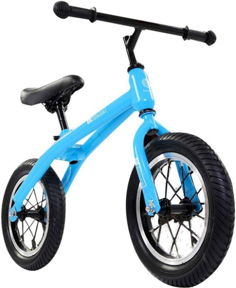 ZLXLX Entrenamiento Balance Car 12 pulgadas Child Training Balance Car sin pedal Walking Balance Bicicleta Niños de 3-6 años, plateado,Azul