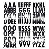 Homeford Big Font Alphabet Letter Stickers, Caps, 3-Inch, 26-Count (Black Glossy)
