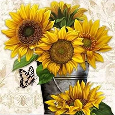 Diamond Painting Kits for Adults, Kids. Home Decoration, Room Office Sunflower 11.8x11.8in 1 Pack by SimingD: Arts, Crafts & Sewing